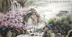 Chinese Village Countryside Painting,66cm x 130cm,1079004-x