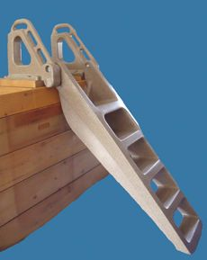 GETTING OUT OF THE WATER HAS NEVER BEEN EASIER.  MADE IN CANADA. THIS LADDER FILLS WITH WATER WHEN SUBMERGED AND FLIPS UP WHEN NOT IN USE.  WE CAN SHIP ANYWHERE IN CANADA.  VISIT US AT www.keylinesafety.com