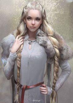 Znalezione obrazy dla zapytania fantasy viking woman