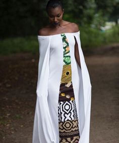 The large bold pattern does it for me. The cover up adds to the aesthetic appeal. African Wedding Dress, African Print Dresses, African Dress, Wedding Dresses, African Inspired Fashion, African Print Fashion, Ethnic Fashion, African Attire, African Wear