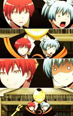 Nagisa, you'll learn that crazy will save you from living a boring life. Love, all the crazy people - DA | Karma Akabane | Nagisa Shiota | Koro-sensei | Assassination Classroom