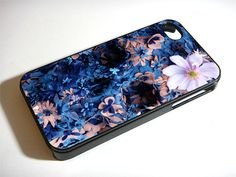 Blue Floral Skull Design iPhone 5S 5 4S 4 Samsung Galaxy Note 3 S4 S3 Mini Case