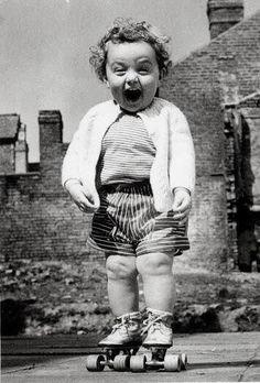 En patin à roulettes - fairly sure this was me in a past life! =)