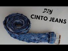Diy - Cinto com jeans velho - YouTube