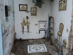 """The """"Drip Up"""" does real indoor street art in TLV."""