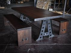 A Frame with Benches