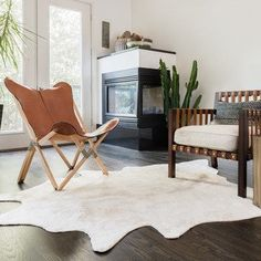 Alexander Home Rawhide Ivory Rug (3'10 x 5'0) | Overstock.com Shopping - The Best Deals on 3x5 - 4x6 Rugs