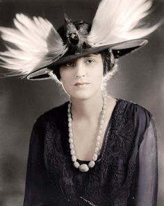 Woman in Feathered Hat