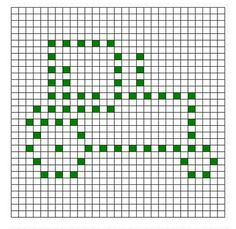 Bobble Crochet Graph - Tractor