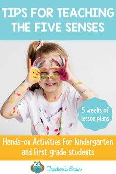 Planning your lessons for teaching the five senses to your kindergarten and first grade students? Finding the perfect, fun activities to keep your students engaged while learning about the five senses can be overwhelming. Here are my best tips on how to teach the five senses in a way that your students will love! #fivesenses #fivesensesactivities #fivesensesworksheets