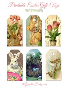 Free Printable Easter Gift Tags! So cute!