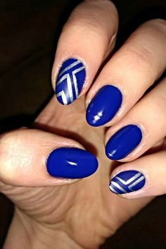 Dark blue with silver lines
