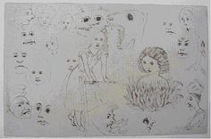 Original Drawings of Heads/Proof Sheet of Alice, 1864, by Charles Dodgson (aka Lewis Carroll)