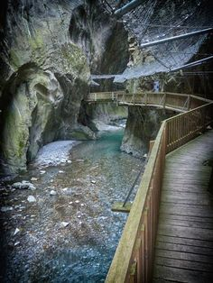 Gorges du Trient, Salvan, Switzerland — by Travelholic Path. The amazing Gorges…