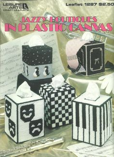 Jazzy Boutiques In Plastic Canvas Music Lover Patterns Leisure Arts Leaflet 1287