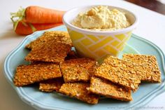 Raw Vegan Carrot and Flax Crackers...made with clean ingredients and they're raw, vegan, gluten-free, dairy-free, egg-free, paleo-friendly The Healthy Family and Home