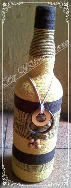Casa,Amor e Arte . A arte de criar: Especial garrafas decoradas.