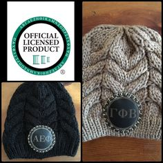 Hippy Spirit officially licensed sorority beanie with Chanel inspired chain