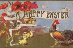 Vintage easter Postcards   Lilac & Lavender: Vintage Easter postcards
