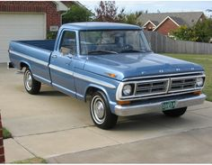1972 Ford F100 Nice Blue Truck -