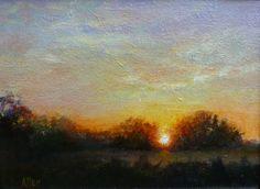 Early Hours by Eva Allen Oil ~ 6 x 8