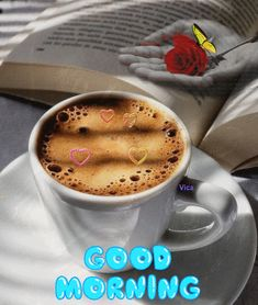 Goog Morning, Happy Friendship Day, Latte, Drinks, Tableware, Food, Beautiful Images, Bom Dia, Drinking