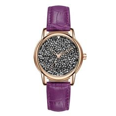 SANDA Brand Fashion Women Watches 2018 Luxury Full Diamond Quartz Wristwatch Leather Ladies Watch Woman Clock relogio feminino From Touchy Style Outfit Accessories ( Brown ) Cheap Watches For Men, Stylish Watches, Casual Watches, Luxury Watches, Look Fashion, Fashion Brand, Fashion Women, Ladies Dress Watches, Look Plus Size