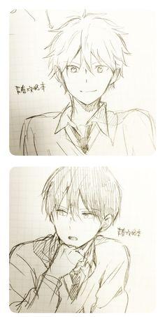 Youth capture book Isesaki and Kurata book capture Isesaki Kurata Anime Boy Sketch, Anime Drawings Sketches, Cute Drawings, Anime Boy Drawing, Owl Drawings, Manga Art, Anime Art, Anime Body, Manga Drawing Tutorials