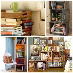The Art of the Bookcase Bookshelf Desk, Bookshelves, Window Ledge Decor, Small Cozy Apartment, Crates, Interior Design, Desks, Room, Reading