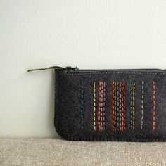 Licorice in Spice Market Made To Order Hand Wool Felt Coin Purse by LoftFullOfGoodies, $18.00