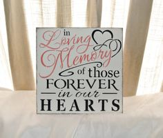 Memory Table Ideas liga svikss Wedding Sign In Loving Memory Of Those Forever In Our Hearts Memorial Table If Heaven Wasnt So Far Away In Memory Of