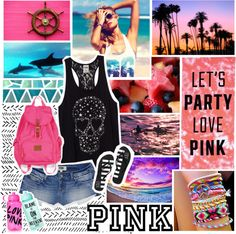 """""""Love Pink."""" by charcharr ❤ liked on Polyvore"""