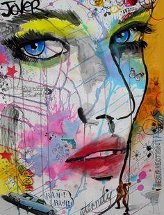 """Saatchi Online Artist: Loui Jover; Chalk 2013 Drawing """"bam bam"""""""