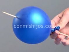 Cómo pinchar un globo sin que explote. Experimento para niños