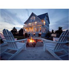 I don't care if we are on the beach or not. But I will have the chairs and fire pit.