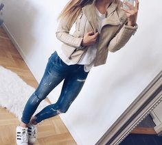 adidas, clothes, fashion, girl, outfit, shoes, style, lather jacket