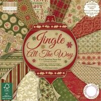 First Edition Paper Pack Pad - Jingle All The Way 6 x 6