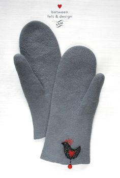 Valentine's gift Women mittens Felted mittens Felted gloves Arm warmers Wool mittens Mother's Day gift Rustic style Wool gloves Red Heart Gloves & Mittens Mittens & Muffs  Woman Accessories  Clothing gift  For-girlfriend  This cozy wool accessory is specially handcrafted to hug your hands just right for maximum warming and comfort. I made these stylish woman mittens from softest merino wool. Decorative bird's embroidery and red ball are for extra style. The mittens have no seams! Wool Gloves, Mitten Gloves, Mittens, Bird Embroidery, Special Person, Winter Accessories, A 17, Rustic Style, Valentine Gifts