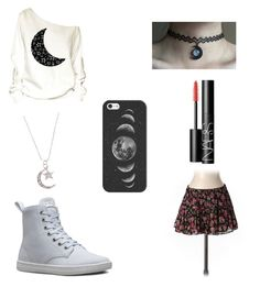 """""""Cancer Zodiac outfit"""" by grungylol on Polyvore featuring Blu Moon, Casetify, Dr. Martens and NARS Cosmetics"""