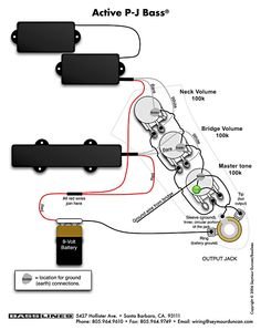 Jazz Bass Special wiring diagram | Electro | Pinterest | Jazz and Bass