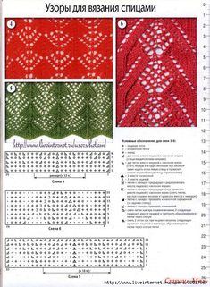 Вязание крючком и спицами схемы и модели