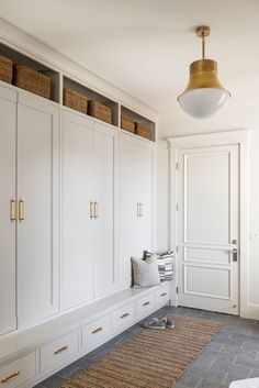 Mudroom Cabinets, Mudroom Laundry Room, Home Renovation, Home Remodeling, Greige Paint Colors, New Homes, House Design, Home Decor, Benjamin Moore
