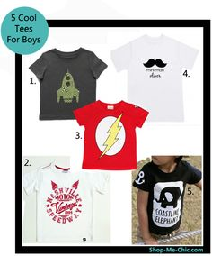Five super cool t shirts for boys!