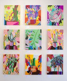 The complete Houseplants series by Ponnopozz (Adrianne Hawthorne). Some originals available. All available as art prints. Art Inspiration Drawing, Art Inspo, Molotow Marker, Wow Art, Art Series, Arte Floral, Art Plastique, Collage Art, Art Lessons