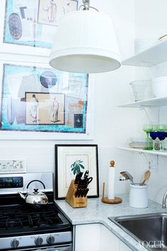 I like this little corner, the white marble counter, with the little personal things.  ~Deborah that collected look — MFAMB :: My Favorite And My Best