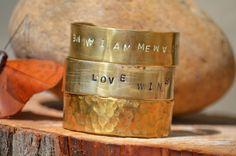 Personalized Stamped Bracelet Arm Cuff Jewelry by theELEPHANTpink