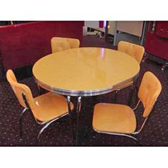 Retro Dinette Set.  Ours was yellow... ♥ ♥ ♥