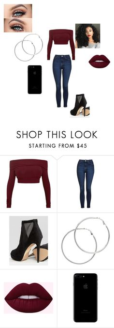 """going to the club"" by jfuller6 on Polyvore featuring Topshop, ALDO and Melissa Odabash"