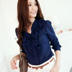 Tie-Neck Ruffle Blouse from #YesStyle <3 Tokyo Fashion YesStyle.com