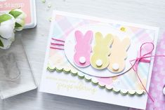 Simon Says Stamp | March 2016 Card Kit - Peeps Offering Card